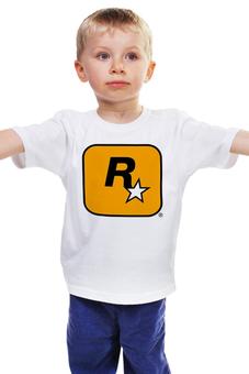 "Детская футболка ""Rockstar Games"" - grand theft auto, gta, rockstar, гта, рокстар, rockstar games"