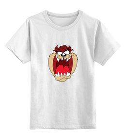 """Детская футболка классическая унисекс """"Тасманийский дьявол"""" - мультфильмы, looney tunes, тасманийский дьявол, весёлые мелодии"""