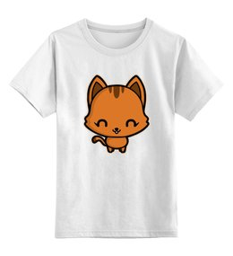 """Детская футболка классическая унисекс """"Милый котёнок"""" - кот, кошка, животное, котёнок, милый котёнок"""