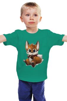 """Детская футболка """"Умный лисёнок """" - лисёнок в очках"""