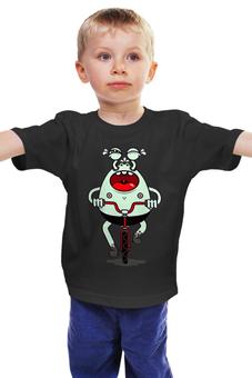 """Детская футболка """"Монстрик """" - велосипедист"""