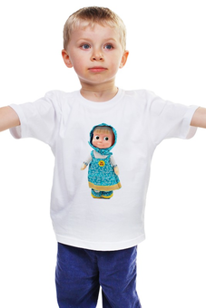"Детская футболка ""кукла МАША ИЗ МУЛЬТА. СМЕШНАЯ ОЗОРНАЯ. ."" - кукла, девочка, мульт, маша"