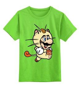 """Детская футболка классическая унисекс """"Марио"""" - марио, покемон, покемоны, mario, pokemon"""