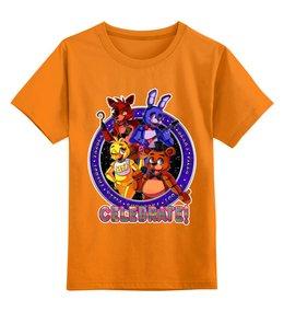 """Детская футболка классическая унисекс """"Five Nights at Freddy's"""" - мультфильмы, игрушки, куклы, пять ночей у фредди, игроманам"""
