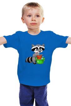 """Детская футболка """"Крошка енот"""" - енот, стирка"""