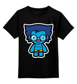 """Детская футболка классическая унисекс """"Зверь"""" - зверь, люди х, x-men"""