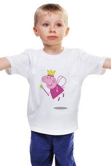 """Детская футболка классическая унисекс """"Пеппа"""" - мультфильм, пеппа, свинка пепа"""