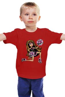 """Детская футболка классическая унисекс """"Monster high """" - для девочки, школа монстров"""