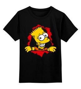 """Детская футболка классическая унисекс """"Барт Симпсон"""" - барт симпсон, симпсон, the simpsons"""