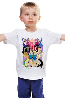 """Детская футболка """"Время Приключений"""" - мульт, время, adventure time, время приключений, приключений"""