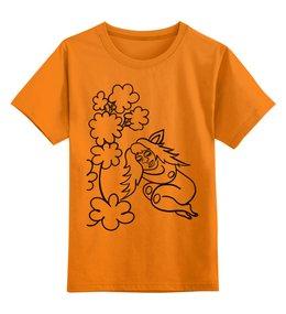 """Детская футболка классическая унисекс """"Дремлющая троллита"""" - девушка, тролль, дерево, сладкий сон, нега"""