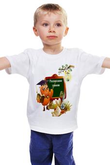 """Детская футболка """"РАСПИСАНИЕ УРОКОВ.СОВА.ШКОЛА."""" - сова, школа, 1 сентября, день знаний, расписание уроков"""
