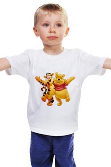 """Детская футболка классическая унисекс """"Винни Пух и Тигра"""" - винни пух, тигра, дисней, мультфильмы"""