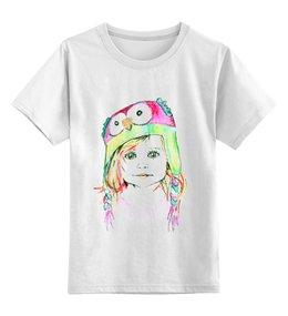 """Детская футболка классическая унисекс """"очень милое дитя в шапке"""" - футболка"""