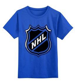 """Детская футболка классическая унисекс """"NHL(НХЛ)"""" - хоккей, nhl, нхл"""