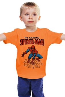 """Детская футболка классическая унисекс """"Человек-паук"""" - комиксы, супергерои, spider man, человек паук, spiderman"""