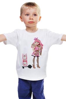 """Детская футболка """"САМАЯ ЛЮБИМАЯ КУКЛА ВСЕХ ДЕВОЧЕК -БАРБИ ."""" - кукла, любимая, игрушка, барби"""