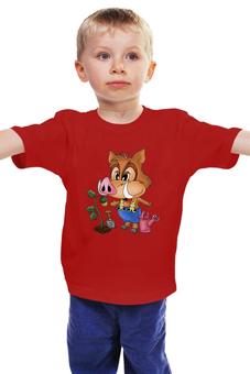"""Детская футболка """"Кабанчик """" - свин"""