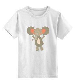 """Детская футболка классическая унисекс """"Весёлый слоник"""" - животные, слон, слоник"""