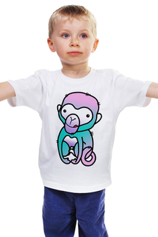 """Детская футболка классическая унисекс """"обезьяна"""" - новый год, обезьянка, обезьяна, 2016"""