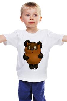 """Детская футболка классическая унисекс """"Винни-Пух"""" - винни пух, медвежонок, мульт персонаж, winnie pooh"""
