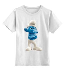 """Детская футболка классическая унисекс """"Смурфики"""" - популярные, в подарок, смурфики, смурф"""