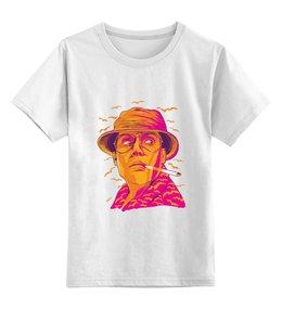 """Детская футболка классическая унисекс """"Рауль Дюк"""" - страх и ненависть в лас вегасе, джонни депп, рауль дюк, fear and loathing in las vegas, парень с сигаретой в зубах"""