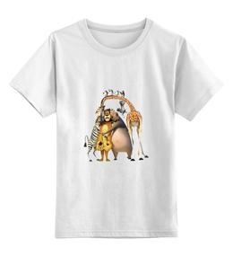 """Детская футболка классическая унисекс """"Мадагаскар"""" - мультики, животные"""
