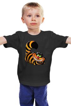 """Детская футболка классическая унисекс """"Чеширский кот"""" - котэ, котик с широкой улыбкой"""