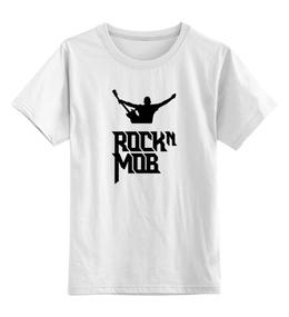 """Детская футболка классическая унисекс """"Rocknmob (черные принты)"""" - rocknmob"""