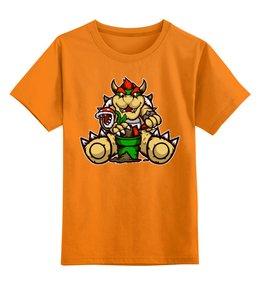 """Детская футболка классическая унисекс """"Боузер"""" - mario, марио, bowser, боузер"""