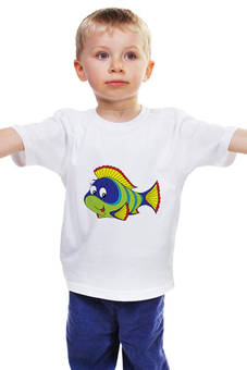 """Детская футболка """"Рыбка"""" - море, рисунок, рыбка"""