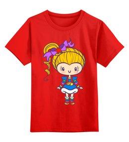 """Детская футболка классическая унисекс """"Яркая девочка"""" - аниме, девочка, манго"""