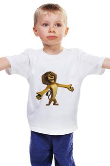 """Детская футболка классическая унисекс """"Лев Алекс"""" - мадагаскар, мульт персонаж, futbolka, алакей, лев алекс"""
