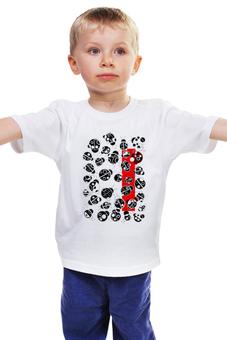 "Детская футболка ""Коровушка"" - лето, графика, круги, насекомые"