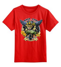 """Детская футболка классическая унисекс """"monkey"""" - арт, спорт, рисунок, bmx, велосипед"""