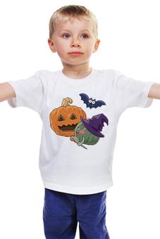 """Детская футболка классическая унисекс """"Halloween"""" - праздник, хэллоуин, интересная, тыква, необычная"""
