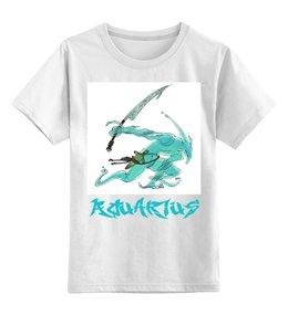 """Детская футболка классическая унисекс """"Знак зодиака Водолей"""" - знак зодиака водолей, символ знака водолей, малыш водолей, ребенок водолей, гороскоп водолей"""