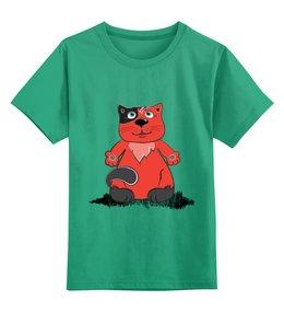 """Детская футболка классическая унисекс """"Рыжий кот"""" - кот, рисунок, детский"""