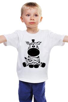 """Детская футболка классическая унисекс """"Зебра"""" - лошадь, мультфильм, зебра, зоопарк"""