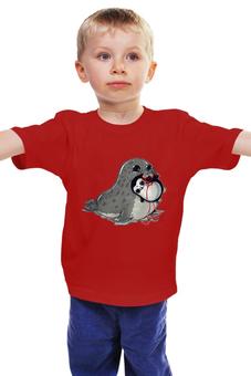 """Детская футболка """"Тюлень """" - пингвинёнок"""
