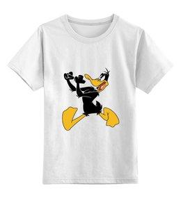 """Детская футболка классическая унисекс """"Даффи Дак"""" - мультфильмы, looney tunes, утка, даффи дак, весёлые мелодии"""