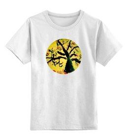 """Детская футболка классическая унисекс """"Осенняя пора"""" - листья, осень, дерево"""