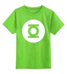 """Детская футболка классическая унисекс """"Зелёный Фонарь"""" - the big bang theory, шелдон купер, зеленый фонарь"""