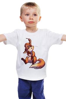 """Детская футболка """"Лисенок"""" - лиса, лисенок"""