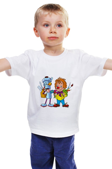 """Детская футболка классическая унисекс """"Карандаш и Самоделкин"""" - мультяшки, рисунок, карандаш, самоделкин"""