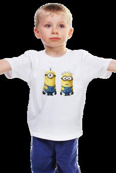 """Детская футболка """"Миньон"""" - прикольно, прикол, арт, девушка, юмор, смешные, приколы, смешное, футболка, стиль"""