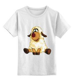 """Детская футболка классическая унисекс """"Good Luck"""" - смешные, новый год, овца, овечка, sheep, 2015"""
