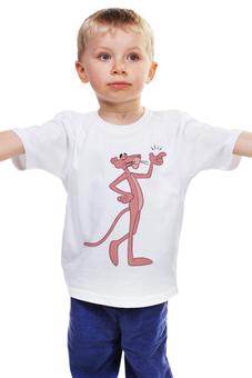 "Детская футболка ""Розовая пантера"" - мультфильм, розовая пантера, the pink panther"