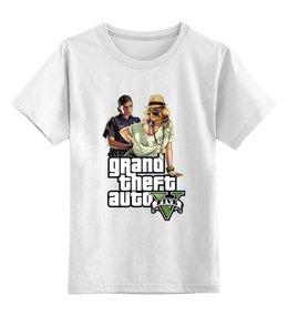 """Детская футболка классическая унисекс """"GTA V"""" - игры, grand theft auto, gta 5, гта 5, gta"""